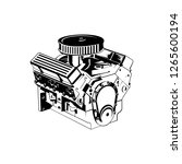 automotive engine vector | Shutterstock .eps vector #1265600194