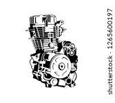 automotive engine vector | Shutterstock .eps vector #1265600197