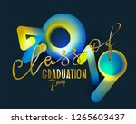 graduation party 2019 with... | Shutterstock .eps vector #1265603437
