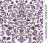 seamless damask floral pattern | Shutterstock .eps vector #126561155