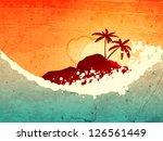 Illustration Of Tropical Sea...