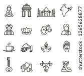 india  icons collection with... | Shutterstock .eps vector #1265628877