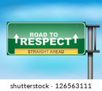 image of a glossy highway sign... | Shutterstock .eps vector #126563111