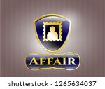 gold emblem or badge with... | Shutterstock .eps vector #1265634037