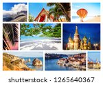 travel collage. different... | Shutterstock . vector #1265640367