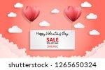 creative valentines day sale...   Shutterstock .eps vector #1265650324