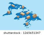 shipping worldwide... | Shutterstock .eps vector #1265651347