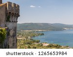 view from medieval castle to... | Shutterstock . vector #1265653984