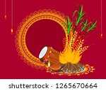 vector illustration of happy... | Shutterstock .eps vector #1265670664