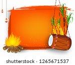illustration of happy lohri... | Shutterstock .eps vector #1265671537