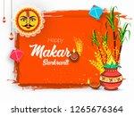 illustration of happy makar... | Shutterstock .eps vector #1265676364