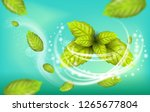 realistic illustration flying... | Shutterstock .eps vector #1265677804