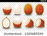 rambutan fruit vector. a... | Shutterstock .eps vector #1265685244