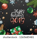 happy holidays concept. top... | Shutterstock .eps vector #1265685481