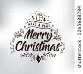 merry christmas. typography.... | Shutterstock .eps vector #1265688784