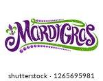 vector lettering for mardi gras ...   Shutterstock .eps vector #1265695981