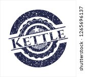 blue kettle rubber stamp with... | Shutterstock .eps vector #1265696137