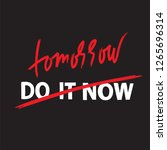 do it now tomorrow   simple... | Shutterstock .eps vector #1265696314