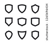 vector shields  security and... | Shutterstock .eps vector #1265696434