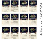 calendar 2019 vector   Shutterstock .eps vector #1265696464
