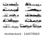 silhouette sights of 11 cities