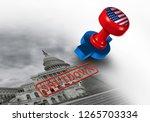 shutdown of the united states... | Shutterstock . vector #1265703334