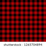 Black And Red Lumberjack Plaid...