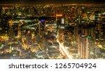city of night.bangkok buildings ...   Shutterstock . vector #1265704924