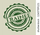 green trainee distressed rubber ... | Shutterstock .eps vector #1265709121