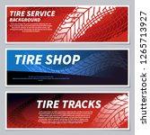tire tread tracks banners.... | Shutterstock .eps vector #1265713927