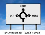 Road Sign Roundabout Direction...