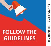 text follow the guidelines.... | Shutterstock .eps vector #1265722441