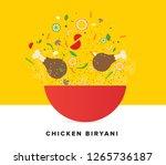 chicken biryani vector... | Shutterstock .eps vector #1265736187