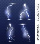 lightning realistic. energy... | Shutterstock .eps vector #1265737117