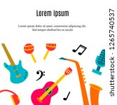 music instruments concept with... | Shutterstock .eps vector #1265740537