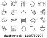 food icon set  vector...   Shutterstock .eps vector #1265750104