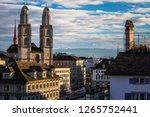 zurich  switzerland   view of... | Shutterstock . vector #1265752441