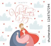 valentine's day greeting card... | Shutterstock .eps vector #1265767294