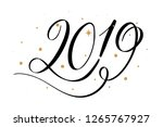 2019 new year card  banner.... | Shutterstock .eps vector #1265767927