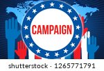 campaign election on a world... | Shutterstock . vector #1265771791
