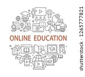 e learning education outline... | Shutterstock .eps vector #1265777821