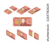 new zealand dollar money paper  ... | Shutterstock .eps vector #1265782624