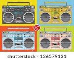 ghetto blaster | Shutterstock .eps vector #126579131