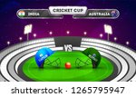 cricket tournament  india vs... | Shutterstock .eps vector #1265795947