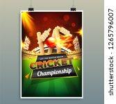 cricket championship template... | Shutterstock .eps vector #1265796007
