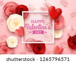 valentines day greeting card... | Shutterstock .eps vector #1265796571