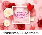 happy international women's day ... | Shutterstock .eps vector #1265796574