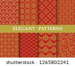 8 different elegant chinese... | Shutterstock .eps vector #1265802241