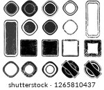 grunge post stamps collection ... | Shutterstock .eps vector #1265810437