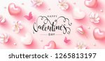 happy valentine's day festive... | Shutterstock .eps vector #1265813197